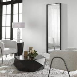 Uttermost Kahn Oversized Black Rectangular Mirror