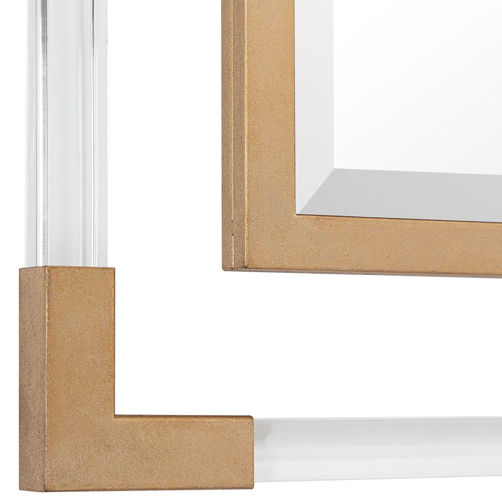 Uttermost Balkan Golden Square Mirror