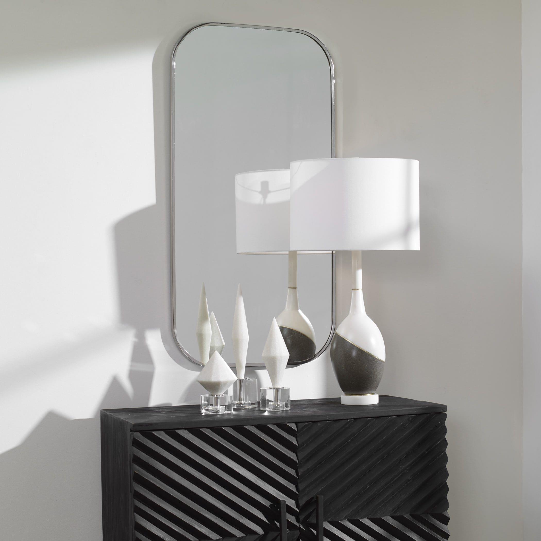 Uttermost Taft Polished Nickel Mirror