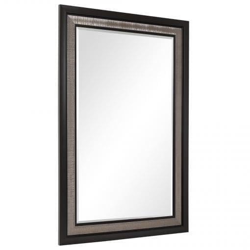 Uttermost Chamberlain Silver & Ebony Mirror