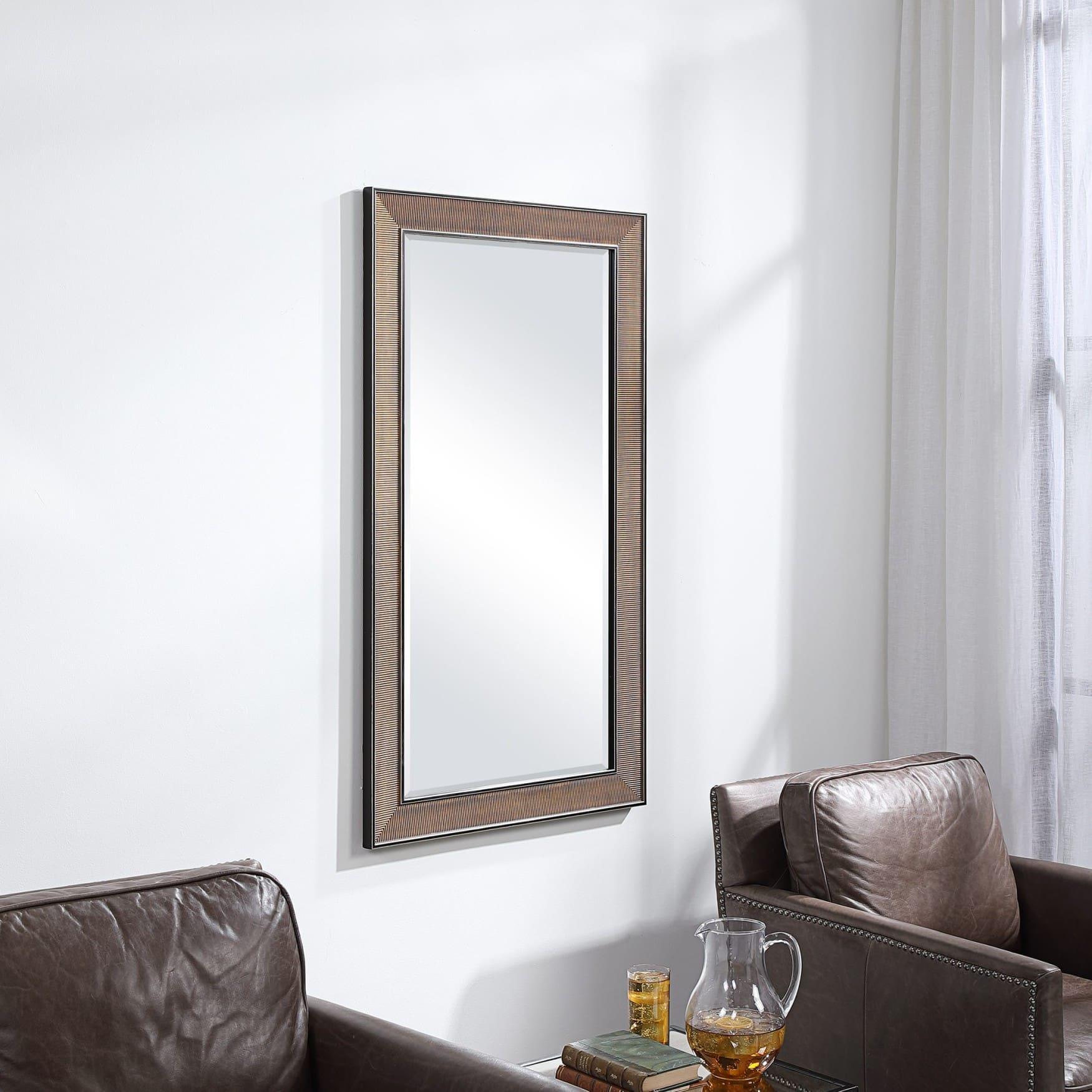 Uttermost Valles Golden Rust Mirror