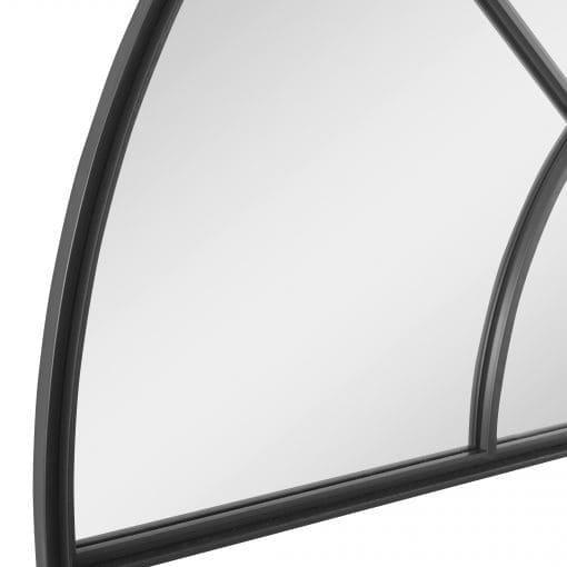 Uttermost Rousseau Iron Window Arch Mirror