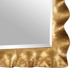 Uttermost Haya Scalloped Gold Mirror