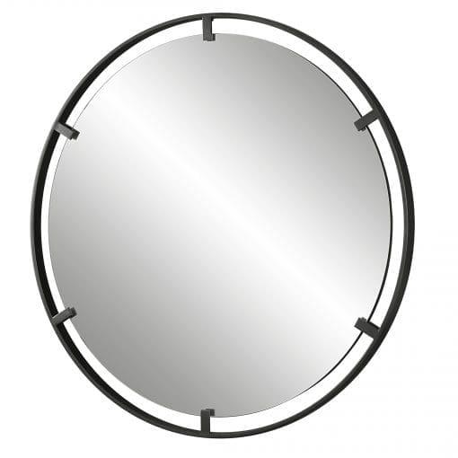 Uttermost Cashel Round Iron Mirror