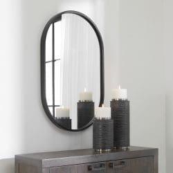 Uttermost Varina Minimalist Black Oval Mirror