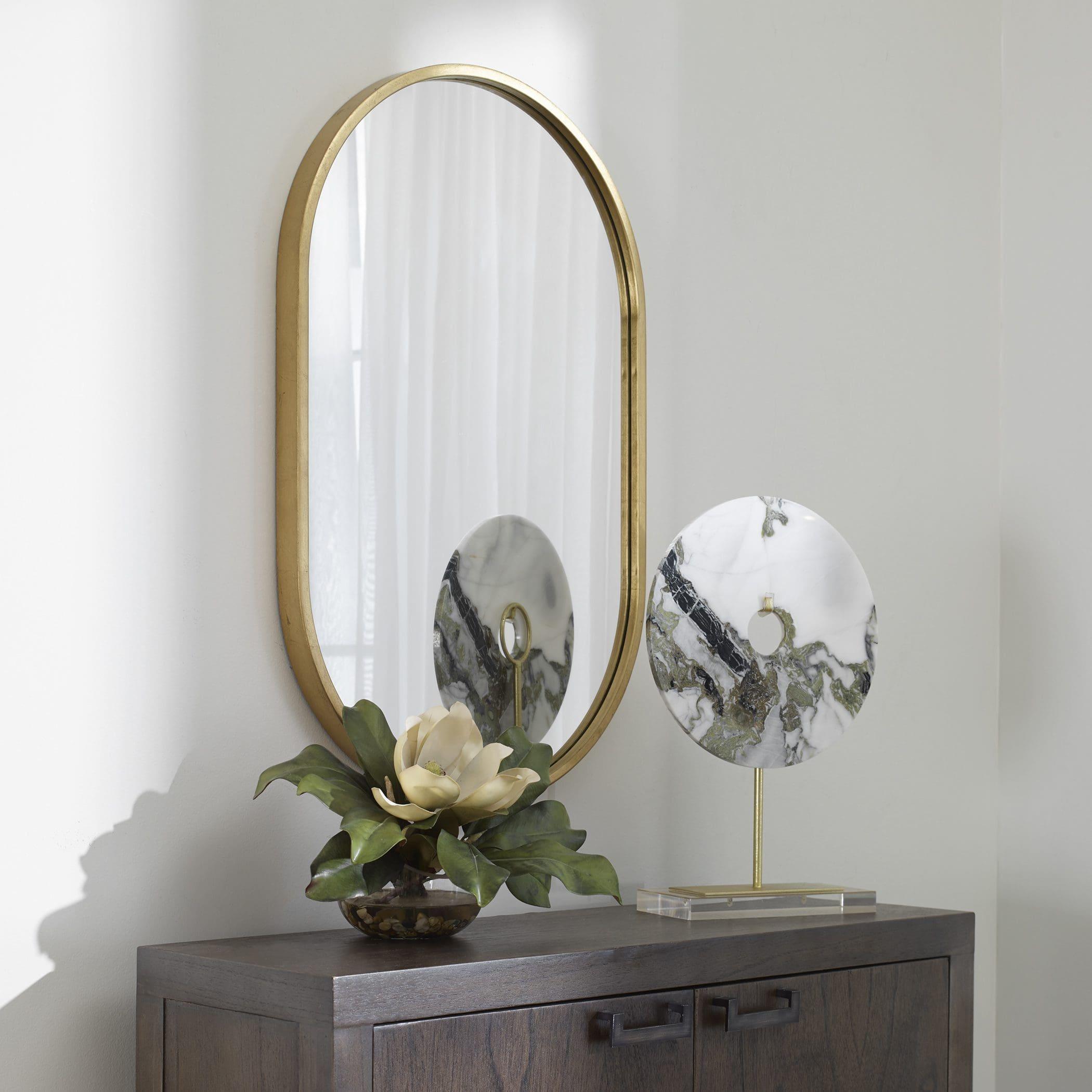 Uttermost Varina Minimalist Gold Oval Mirror