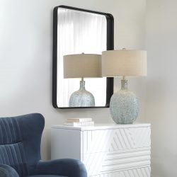 Uttermost Crofton Black Large Mirror