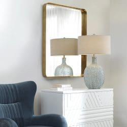 Uttermost Crofton Gold Large Mirror