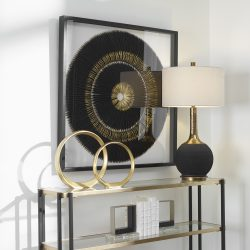 Uttermost Sandara Black And Gold Shadow Box