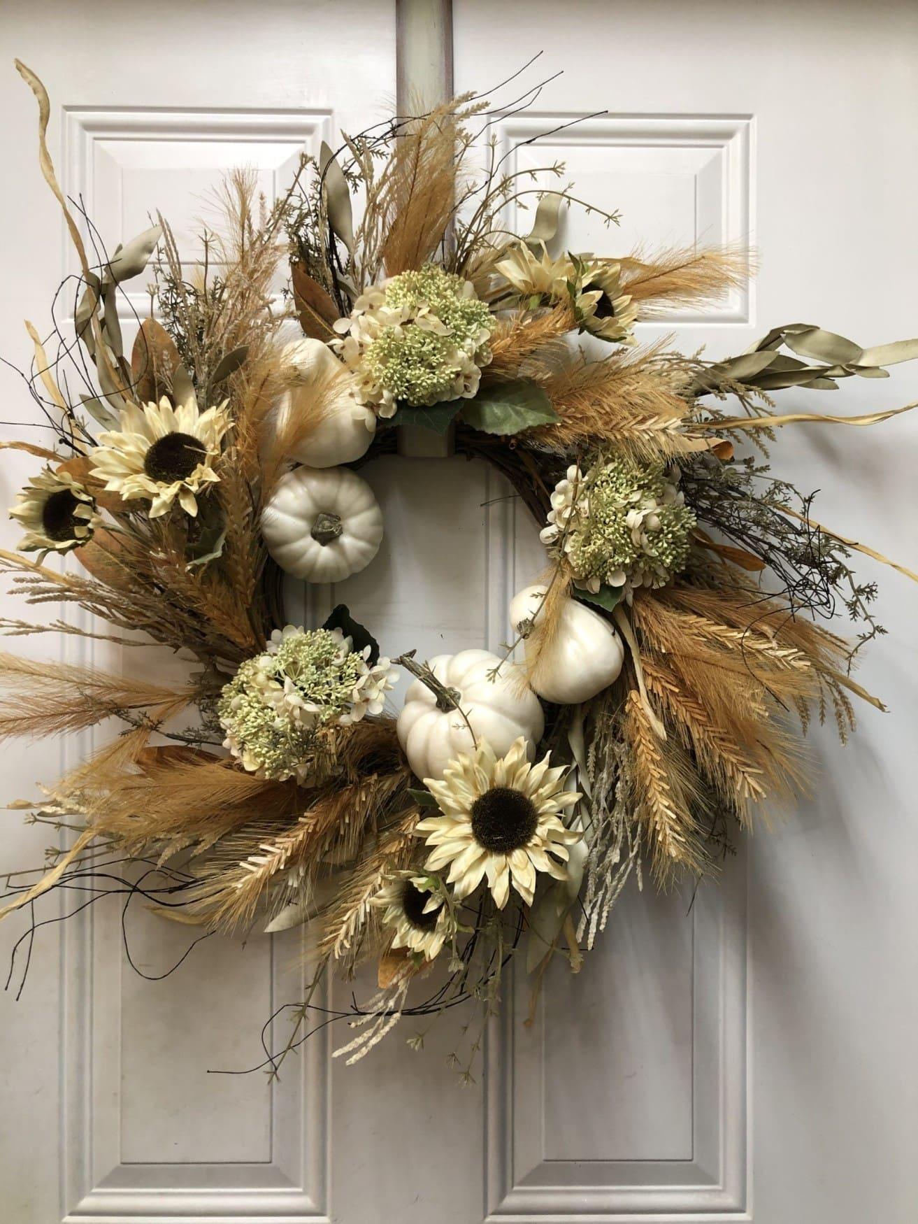 Pampas grass wreath
