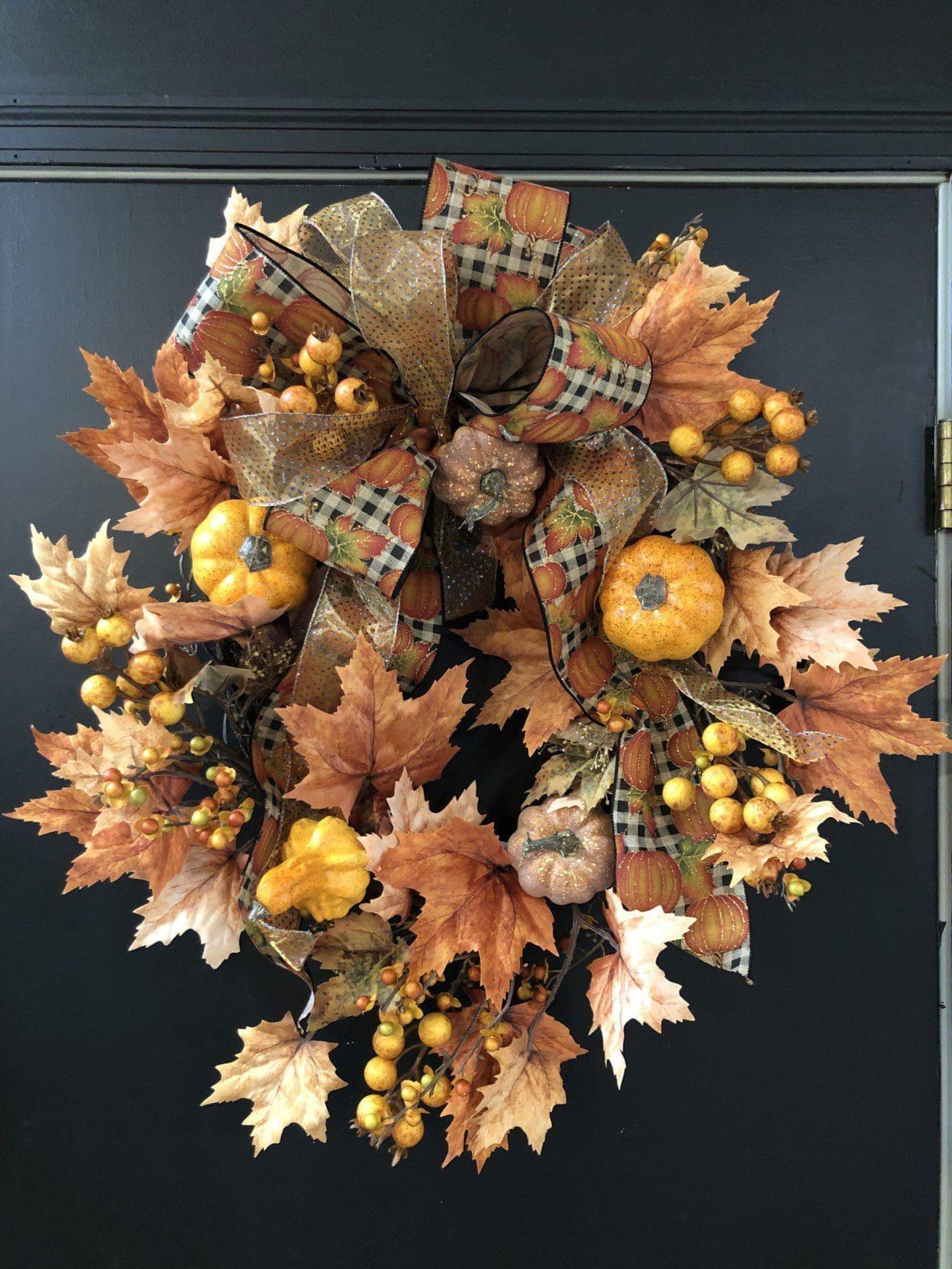 Autumn foliage wreath