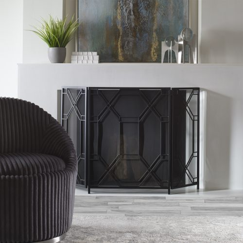 Uttermost Rosen Geometric Fireplace Screen
