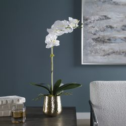 Uttermost Cami Orchid With Brass Pot