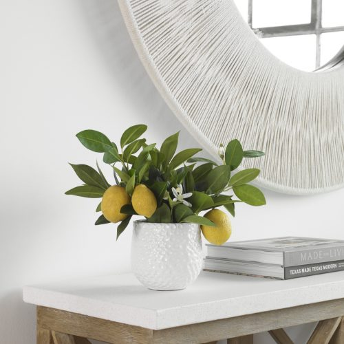 Uttermost Positano Lemon In White Pot