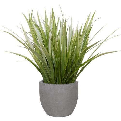 Uttermost Dracaena Grass In Gray Planter