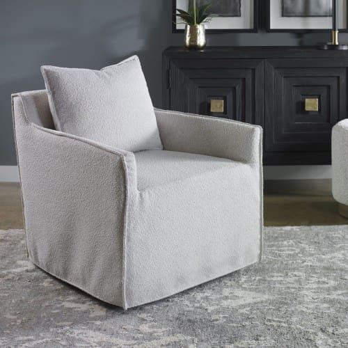 Uttermost Welland Gray Swivel Chair