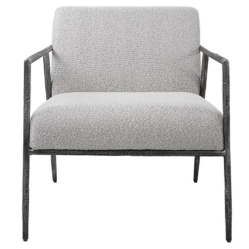 Uttermost Brisbane Light Gray Accent Chair