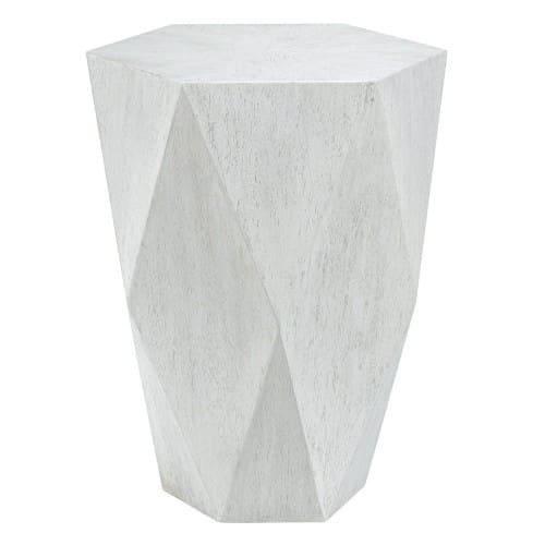 Uttermost Volker White Side Table