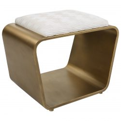 Uttermost Hoop Small Gold Bench