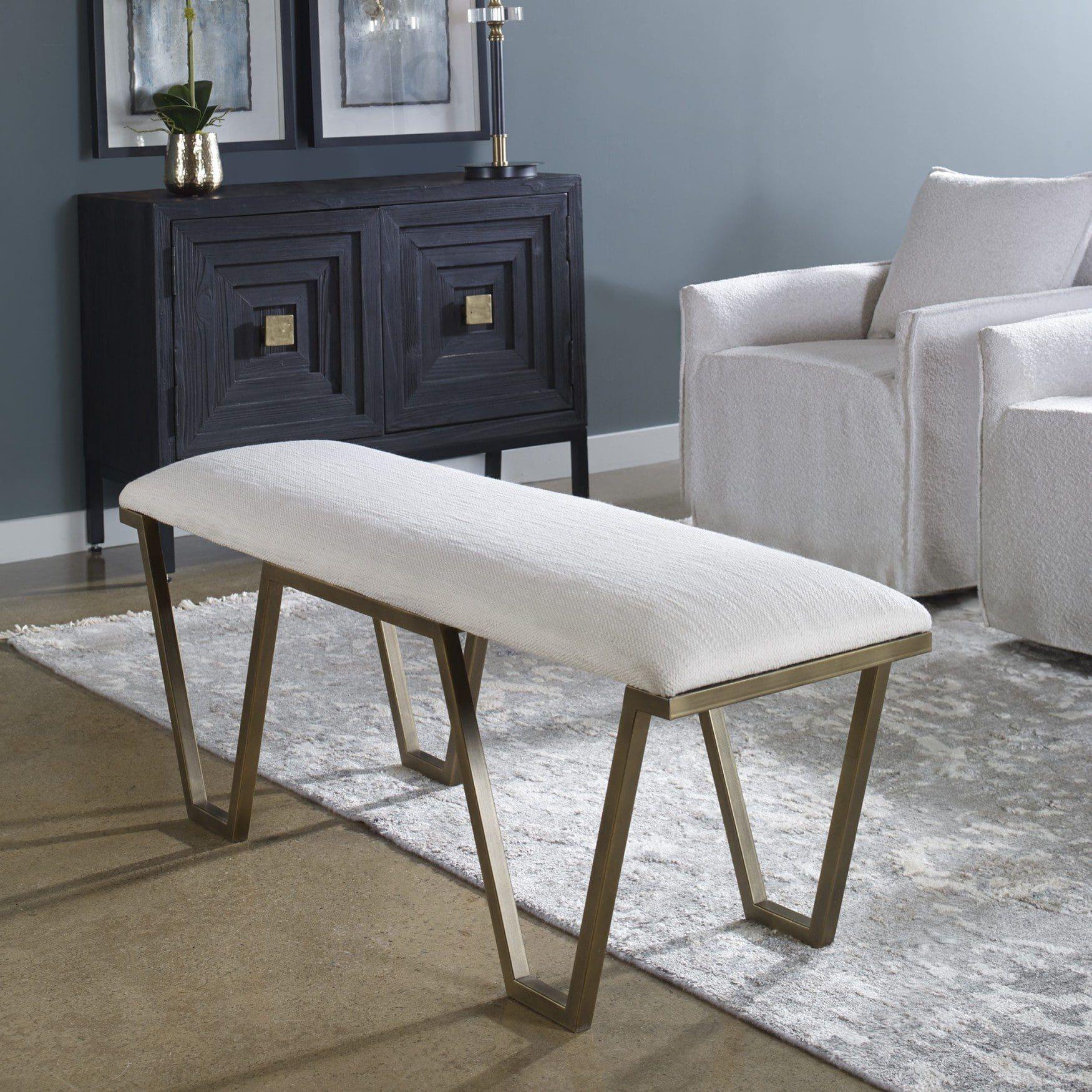 Uttermost Farrah Geometric Bench