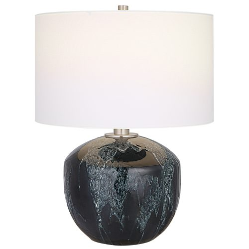 Uttermost Highlands Deep Green Table Lamp