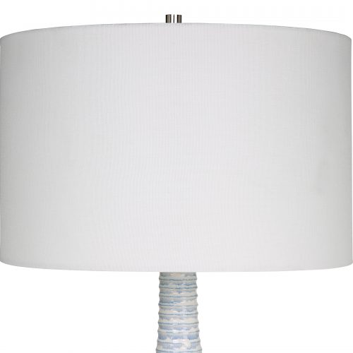 Uttermost Clariot Ribbed Blue Table Lamp