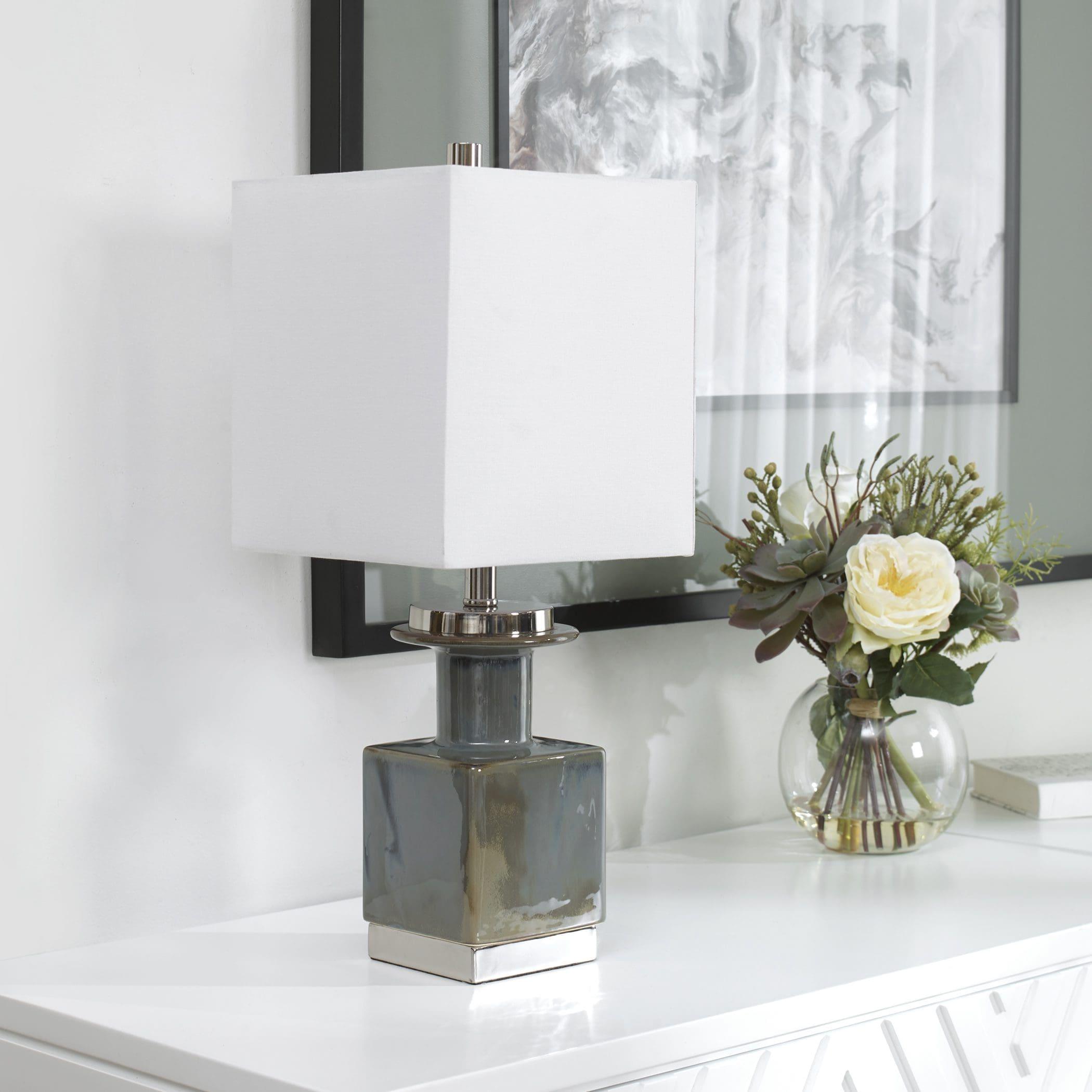 Uttermost Cabrillo Gray Glaze Accent Lamp