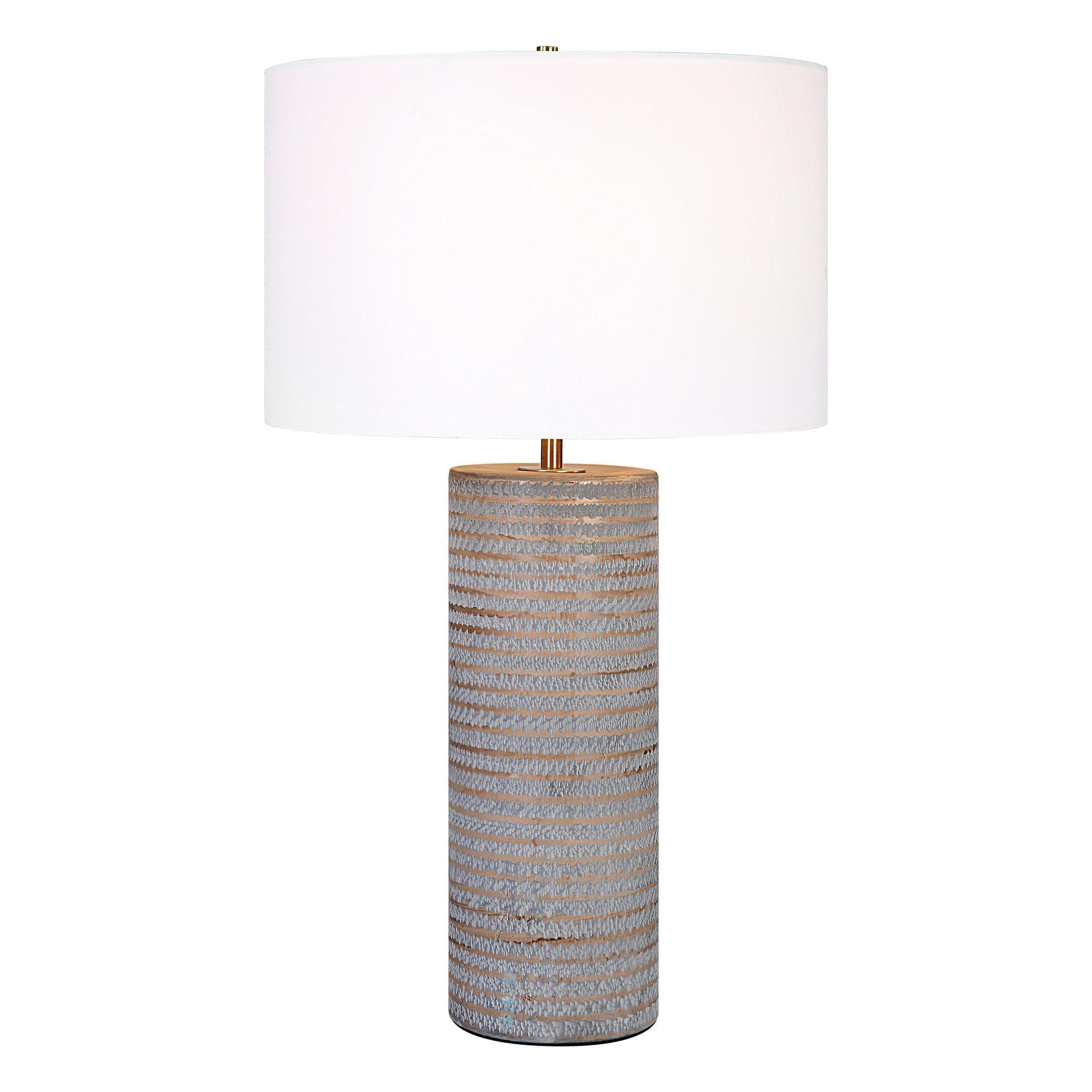 Uttermost Monolith Gray Table Lamp
