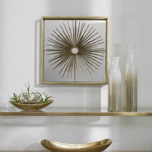 Uttermost Starlight Mirrored Brass Wall Decor