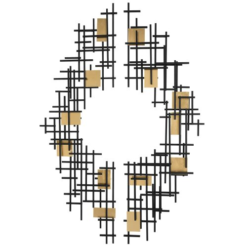 Uttermost Reflection Metal Grid Wall Decor, S/2