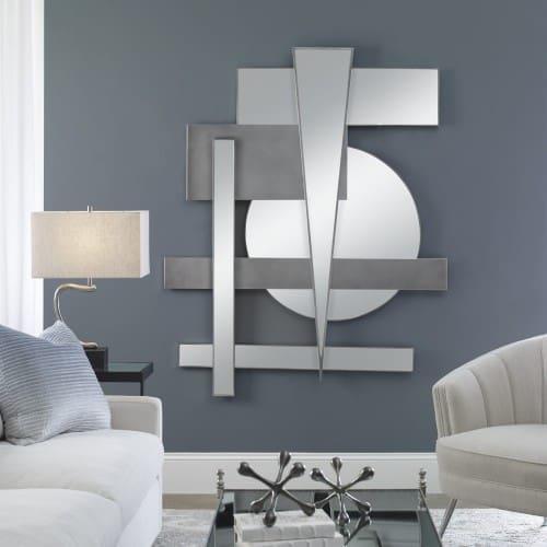Uttermost Wedge Mirrored Modern Wall Decor