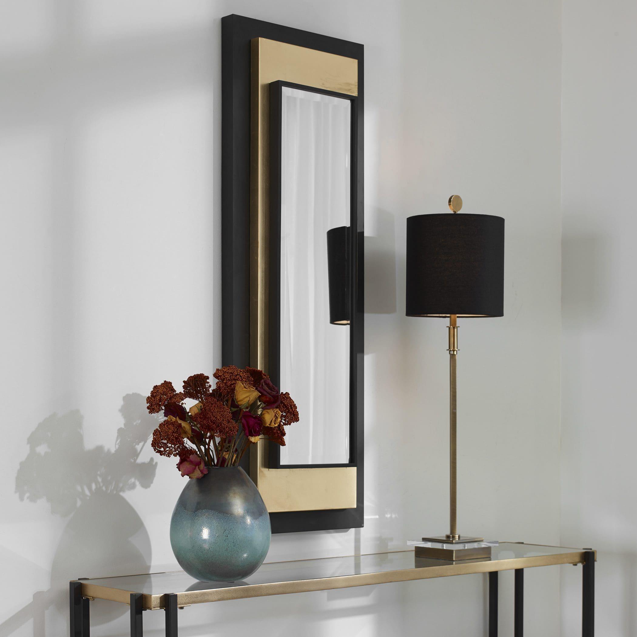 Uttermost Roston Black & Gold Mirror