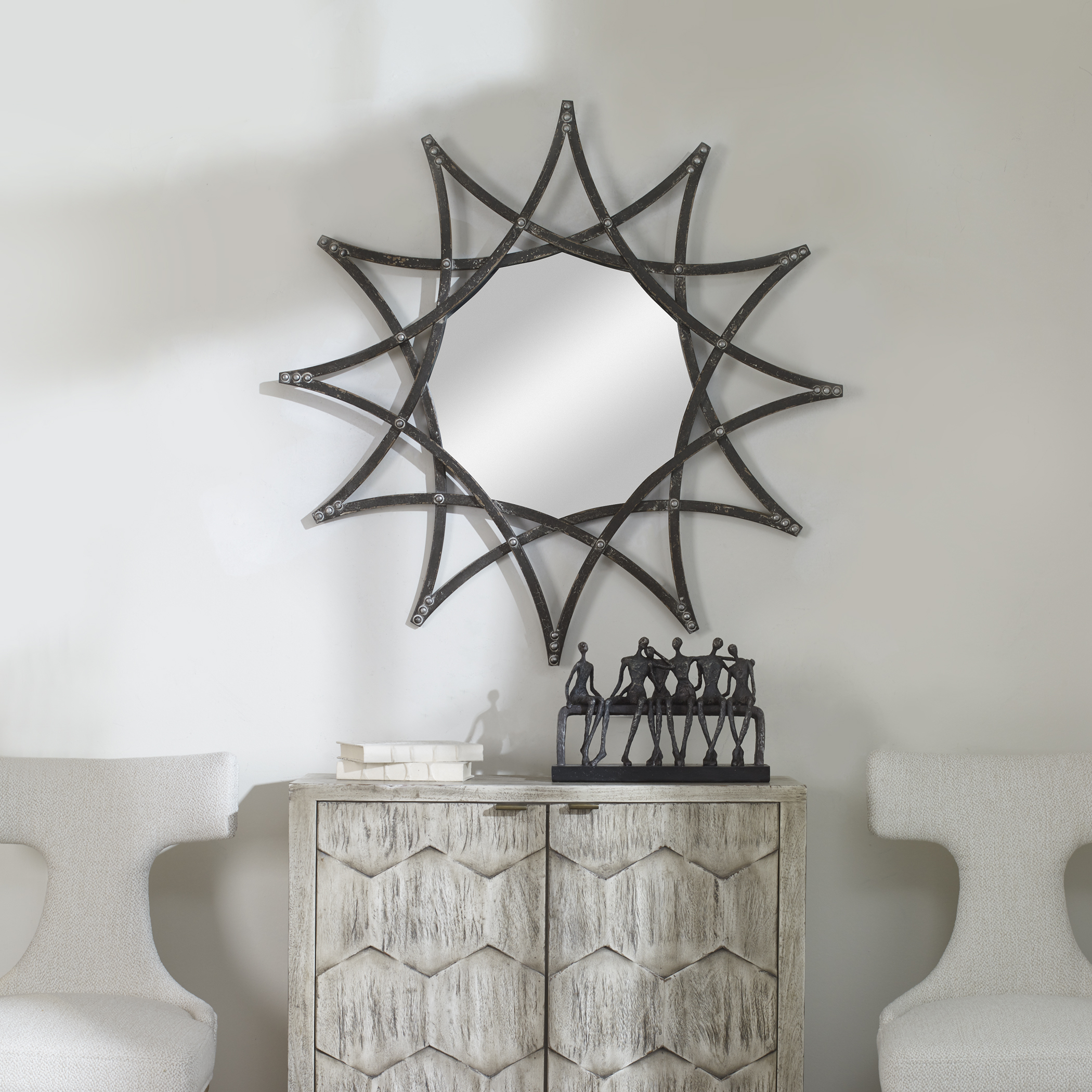 Uttermost Solaris Iron Star Mirror