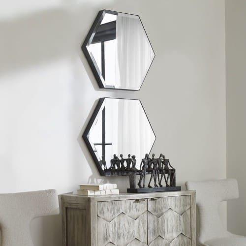 Uttermost Amaya Octagonal Mirrors, S/2