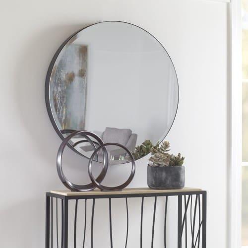 Uttermost Cerelia Black Round Mirror