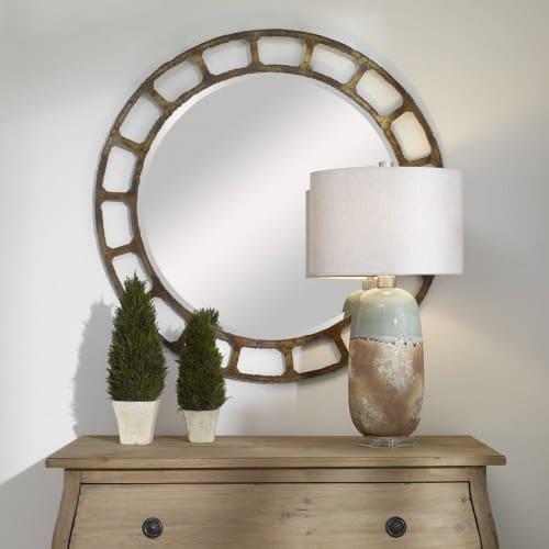 Uttermost Darby Distressed Round Mirror