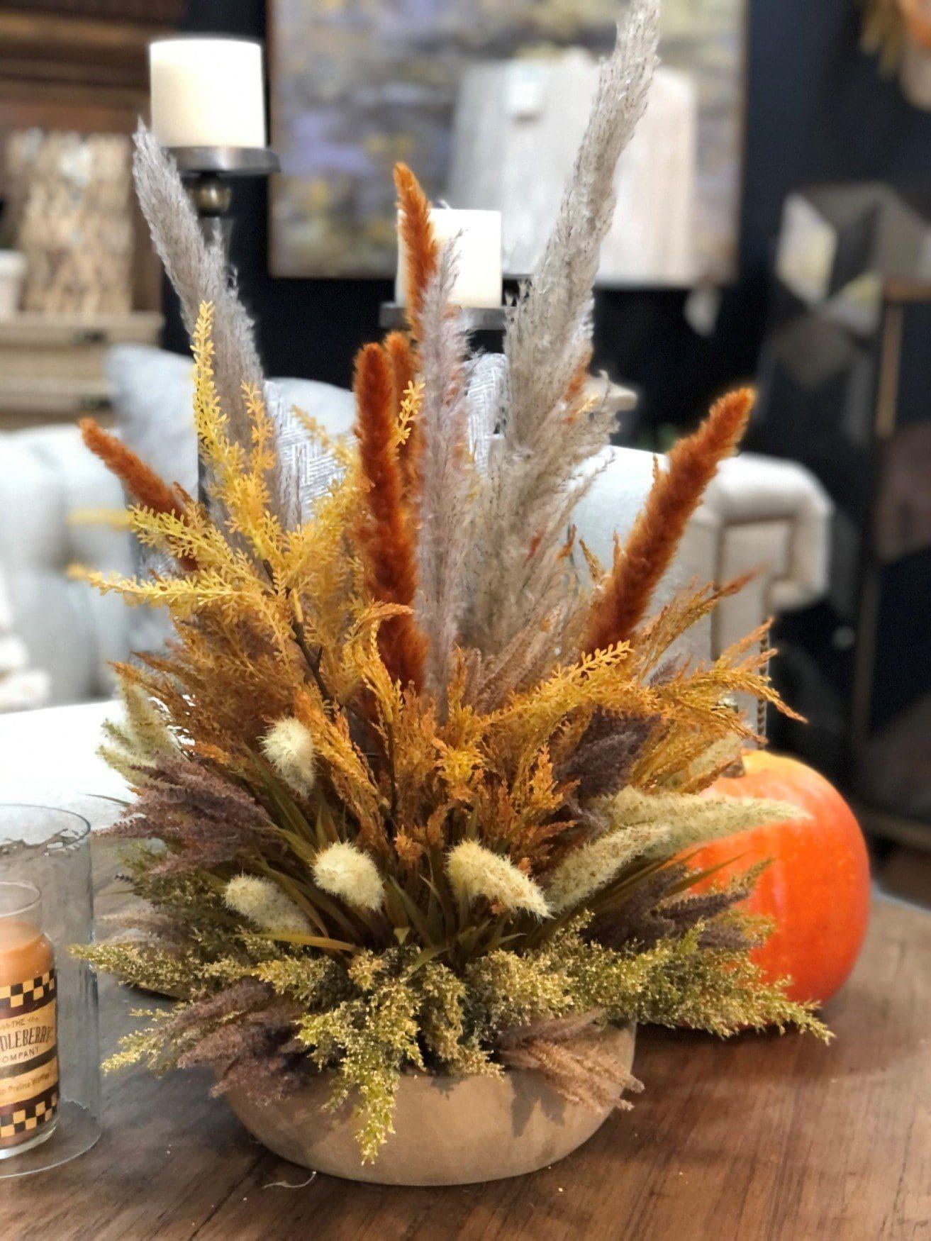Fall natural centerpiece