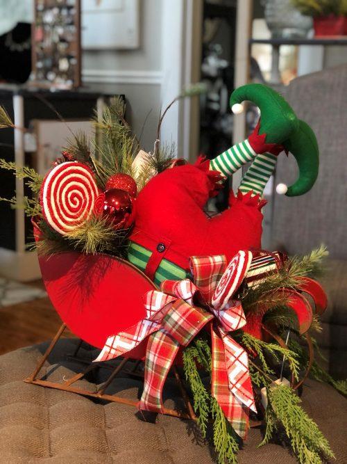 Elf Sleigh Holiday Floral