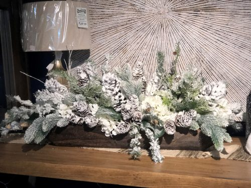Snowy Centerpiece Holiday Floral