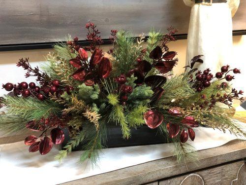 Burgundy Centerpiece Holiday Floral