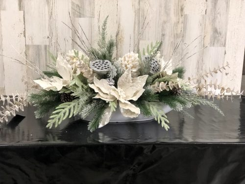 Cream centerpiece Holiday Floral