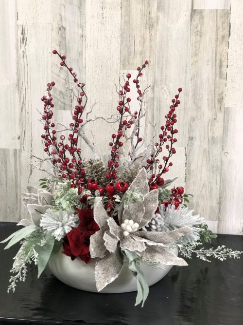 Frosted Redberry Holiday Floral