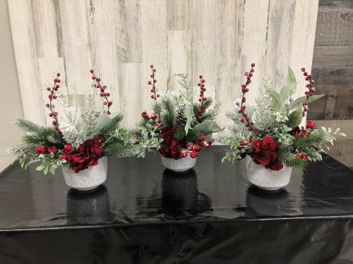 Mini Planters Holiday Floral