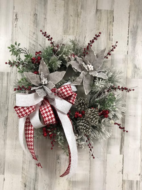 Frosted Wreath Holiday Floral
