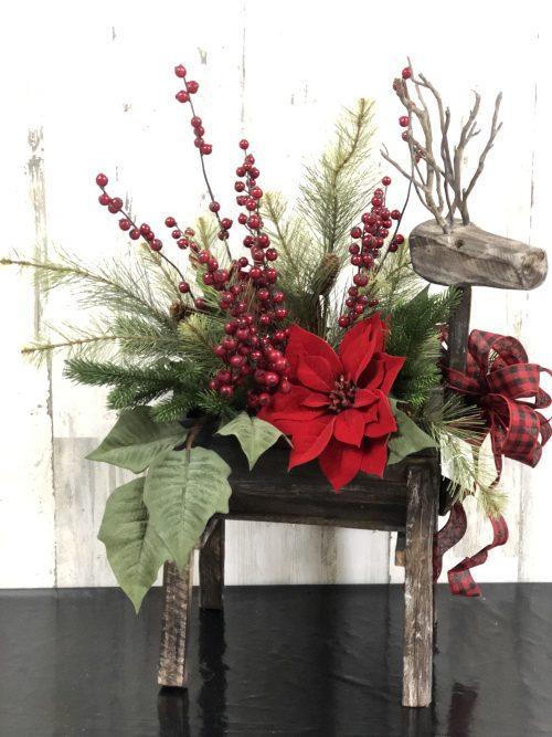Reindeer Holiday Floral
