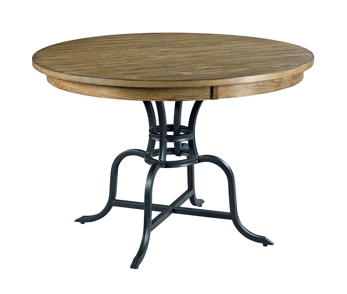 """54"""" ROUND DINING TABLE WITH METAL BASE"""