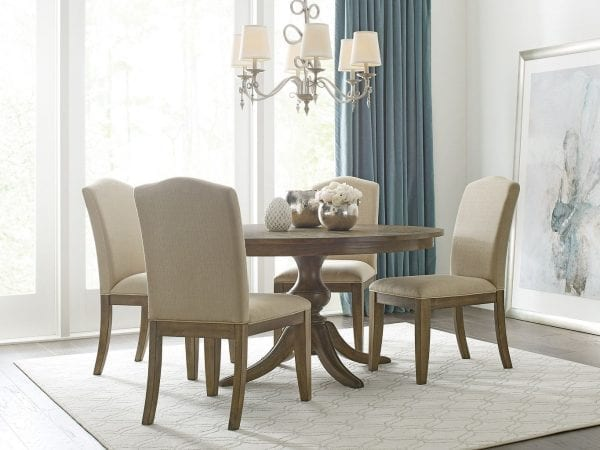 """44"""" ROUND DINING TABLE WITH WOOD BASE"""