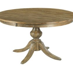 """54"""" ROUND DINING TABLE WITH WOOD BASE"""