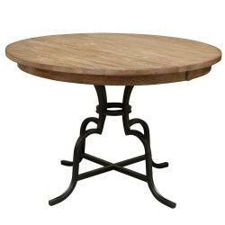 """54"""" ROUND COUNTER HEIGHT TABLE WITH METAL BASE"""