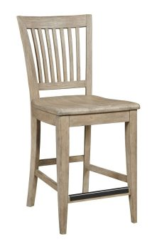 COUNTER HEIGHT SLAT BACK CHAIR